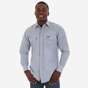 Wrangler Cowboy Cut Western Chambray Shirt #2600